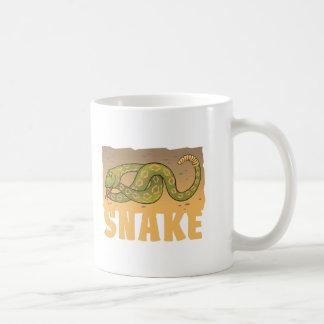 Serpiente amistosa del niño taza básica blanca