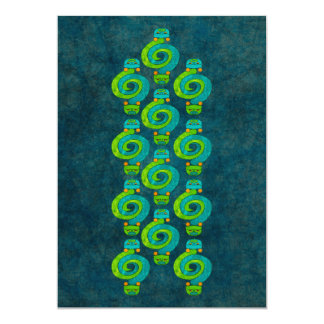 """Serpiente andina invitación 5"""" x 7"""""""