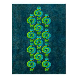 Serpiente andina tarjeta postal