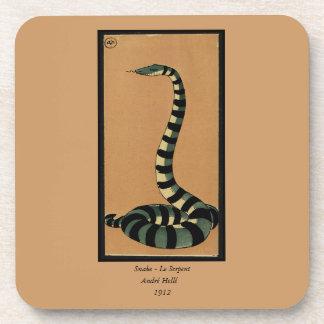 Serpiente - anticuaria, ejemplo de libro colorido posavasos de bebida