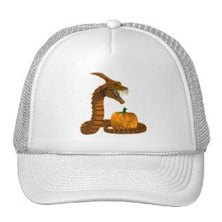 Serpiente asustadiza que protege una calabaza gorras de camionero