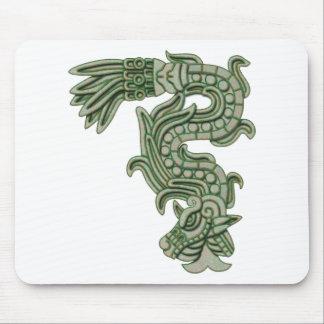 Serpiente azteca del jade tapete de ratón