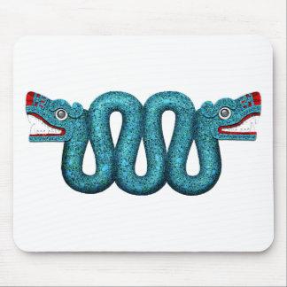 Serpiente azteca del mosaico de la turquesa tapete de ratón