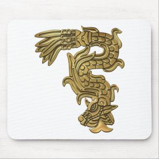 Serpiente azteca del oro mouse pads