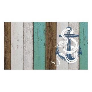 Serpiente azul del blanco del ancla del vintage tarjetas de visita