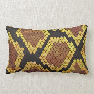 Serpiente Brown e impresión del oro Cojín