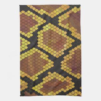 Serpiente Brown e impresión del oro Toallas De Mano
