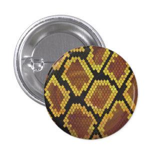 Serpiente Brown e impresión del oro Pin Redondo 2,5 Cm