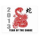 Serpiente china 2013 del zodiaco postales
