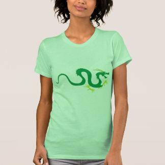 Serpiente china del dragón camisetas