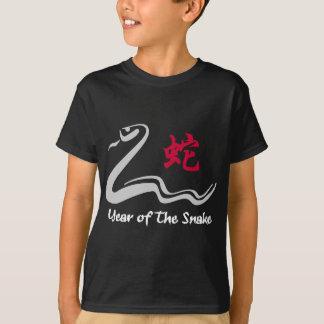 Serpiente china del zodiaco playeras