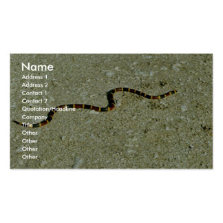 Serpiente coralina plantillas de tarjeta de negocio