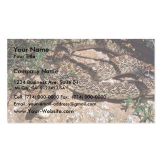 Serpiente de Bull Plantilla De Tarjeta De Negocio