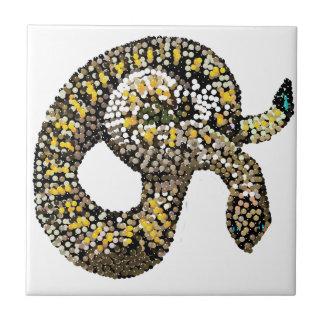 serpiente de cascabel-bedazzled azulejo ceramica
