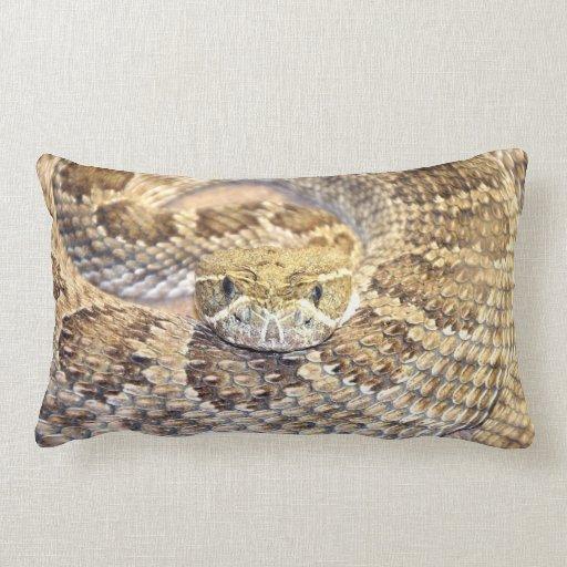 Serpiente de cascabel cojines