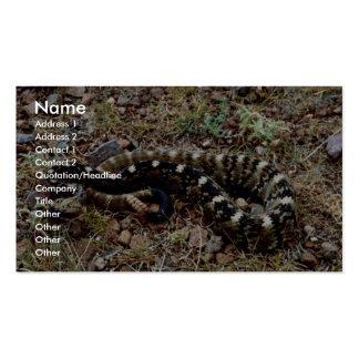 Serpiente de cascabel de cola negra plantillas de tarjetas personales