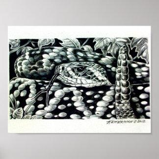 Serpiente de cascabel de Diamondback del este Posters