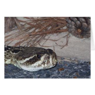 serpiente de cascabel de diamondback del este tarjeta de felicitación