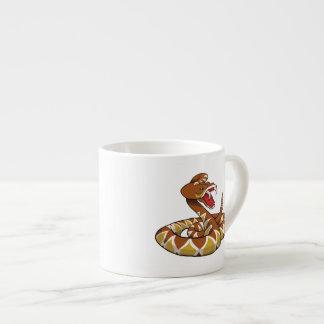 Serpiente de cascabel de Diamondback Taza Espresso
