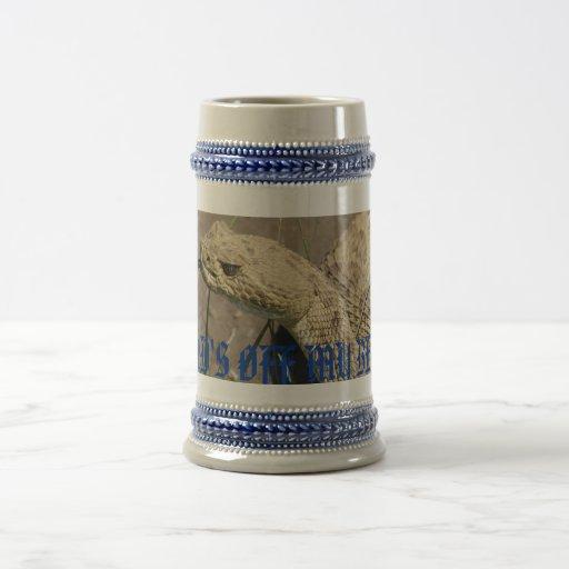 Serpiente de cascabel de pradera R0008 Tazas De Café