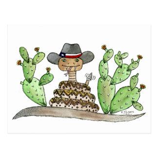 Serpiente de cascabel de Tejas Postales