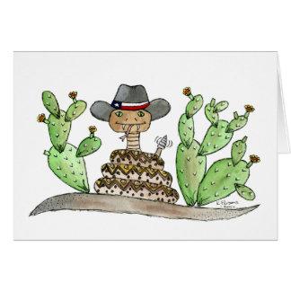 Serpiente de cascabel de Tejas Tarjeta De Felicitación