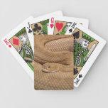 Serpiente de cascabel del basilisco baraja de cartas