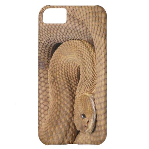 Serpiente de cascabel del basilisco funda para iPhone 5C