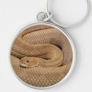 Serpiente de cascabel del basilisco llaveros personalizados