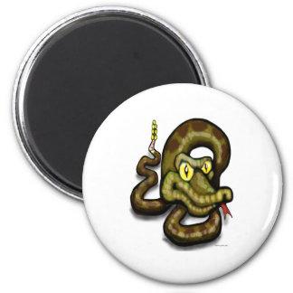Serpiente de cascabel imán de nevera