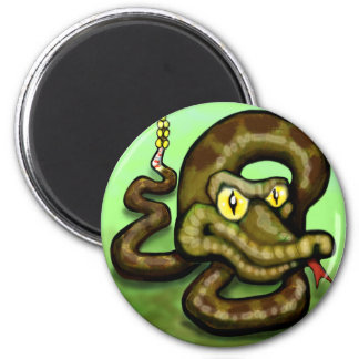 Serpiente de cascabel imán redondo 5 cm