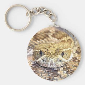 Serpiente de cascabel llavero redondo tipo pin