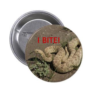 Serpiente de cascabel R0006 Pin Redondo De 2 Pulgadas