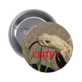 Serpiente de cascabel R0008 Pin Redondo De 2 Pulgadas