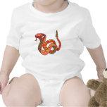 Serpiente de cascabel roja impresionante traje de bebé