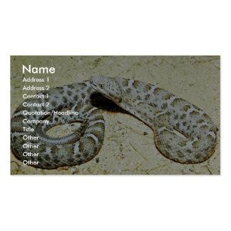 Serpiente de cascabel sospechada surcada mexicana tarjetas de visita