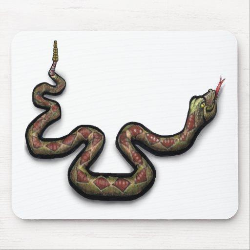 Serpiente de cascabel tapete de raton