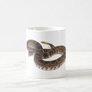 serpiente de cascabel taza