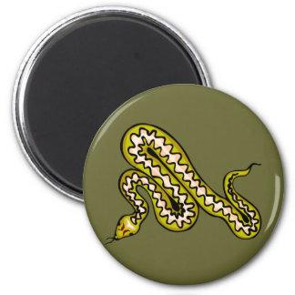 Serpiente de Diamondback Imán Redondo 5 Cm
