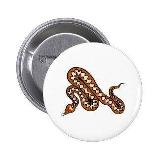 Serpiente de Diamondback Pin Redondo De 2 Pulgadas