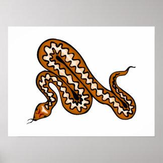 Serpiente de Diamondback Póster