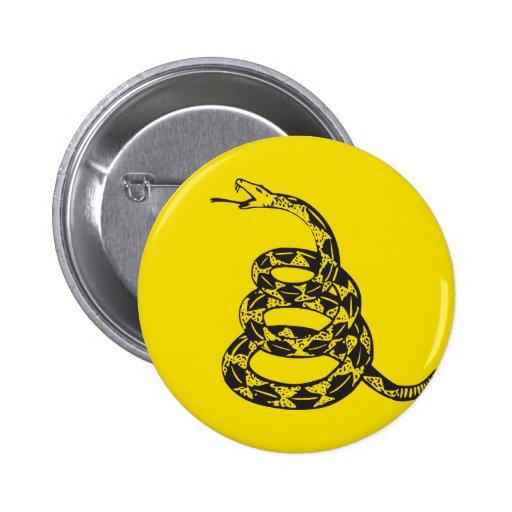 Serpiente de Gadsden - negro Pins