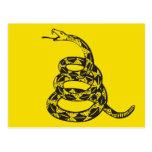 Serpiente de Gadsden - negro Postal