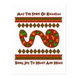 Serpiente de Kwanzaa Tarjetas Postales