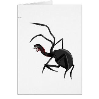 serpiente de la araña tarjeta de felicitación