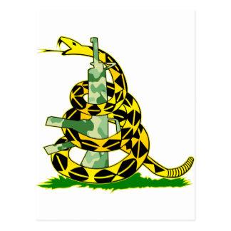 Serpiente de la bandera de Gadsden envuelta Postal