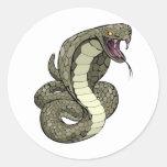 Serpiente de la cobra alrededor a pegar pegatinas
