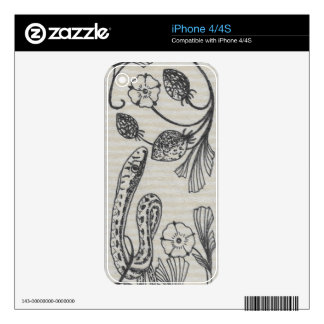 Serpiente de la fresa del Victorian Skins Para iPhone 4S