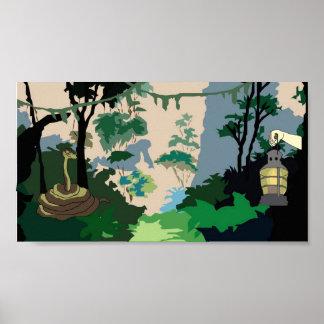 Serpiente de la selva póster