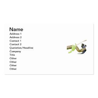 Serpiente de los dados plantilla de tarjeta personal